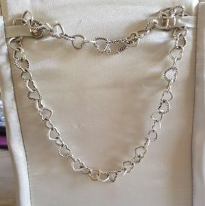 David Yurman Cable Heart Necklace With 18k Gold
